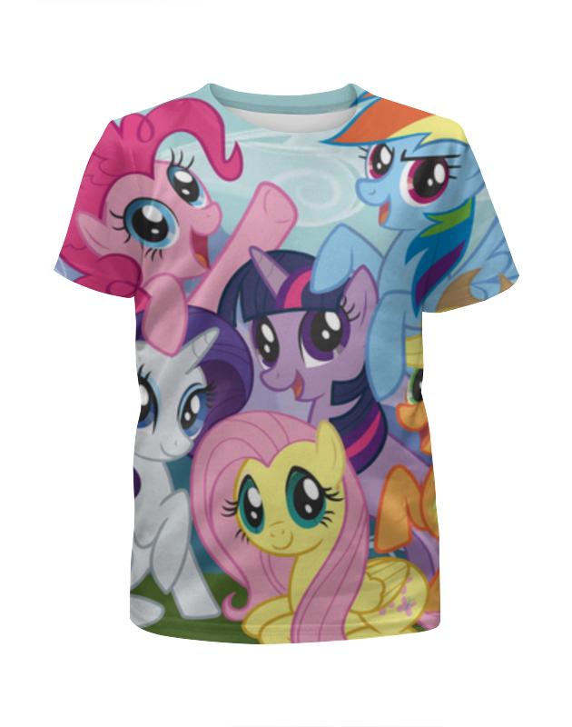 Футболка с полной запечаткой для девочек Printio My little pony футболка с полной запечаткой для девочек printio искорка девочки эквестрии