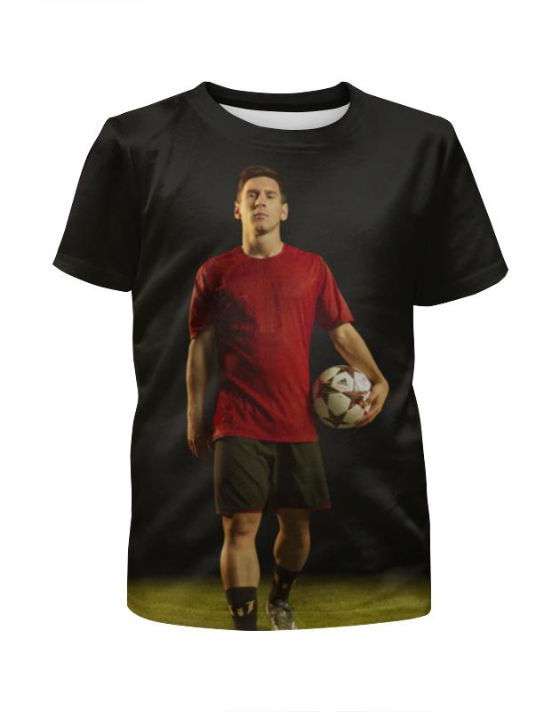 Футболка с полной запечаткой для девочек Printio Лионель месси цена и фото