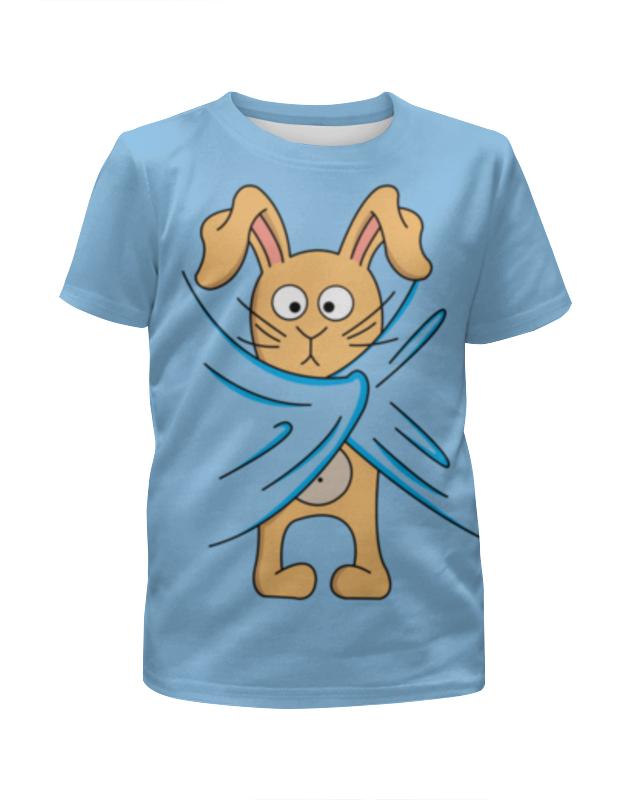 Футболка с полной запечаткой для девочек Printio Кролик футболка с полной запечаткой для девочек printio милый кролик
