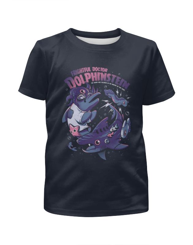 Футболка с полной запечаткой для девочек Printio Акула и дельфинчик футболка с полной запечаткой для девочек printio акула