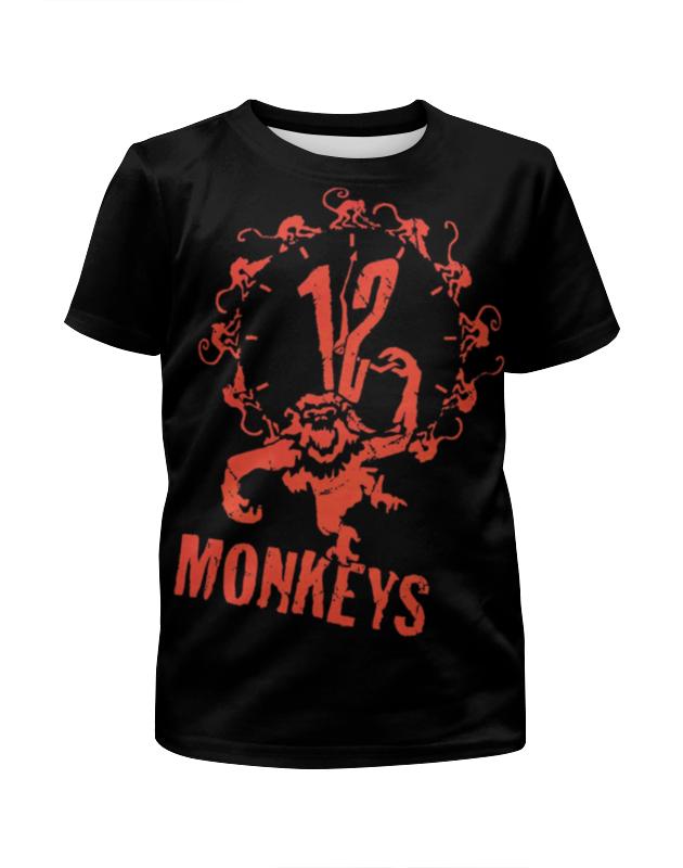 Printio 12 обезьян футболка с полной запечаткой для девочек printio 12 обезьян
