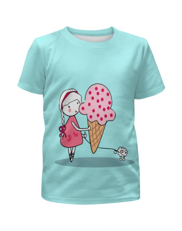 Футболка с полной запечаткой для девочек Printio Девочка с можроженным футболка с полной запечаткой мужская printio девочка с персиками