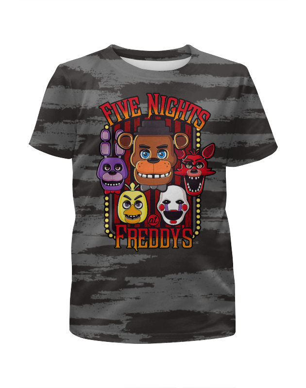 Printio Пять ночей у фредди (fnaf) футболка с полной запечаткой для девочек printio пять ночей у фредди freddy