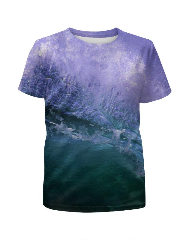 Футболка с полной запечаткой для девочек Printio Purple ocean футболка с полной запечаткой для девочек printio пртигр arsb
