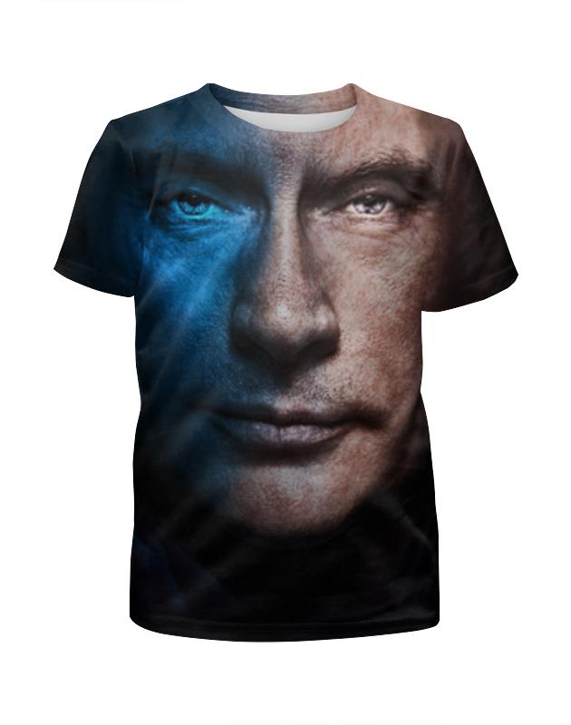 Футболка с полной запечаткой для девочек Printio Putin (путин) футболка с полной запечаткой для мальчиков printio президент россии в в путин mr putin