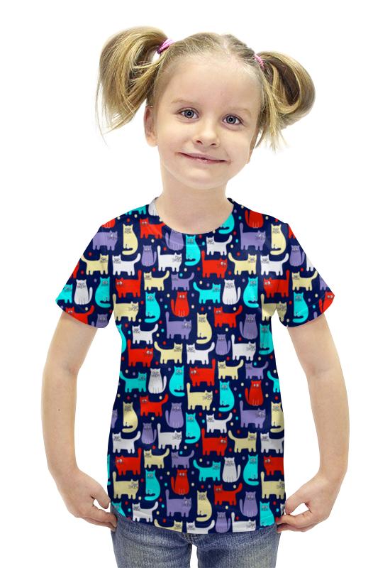 Футболка с полной запечаткой для девочек Printio Котятки футболка с полной запечаткой для девочек printio пртигр arsb