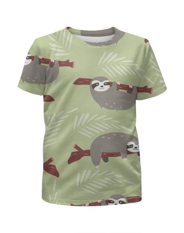 Футболка с полной запечаткой для девочек Printio Ленивец футболка с полной запечаткой для девочек printio на отдых