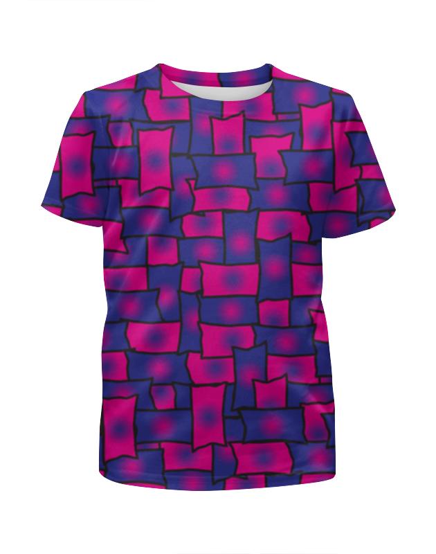 Футболка с полной запечаткой для девочек Printio Прямоугольники футболка с полной запечаткой для девочек printio синий огонь