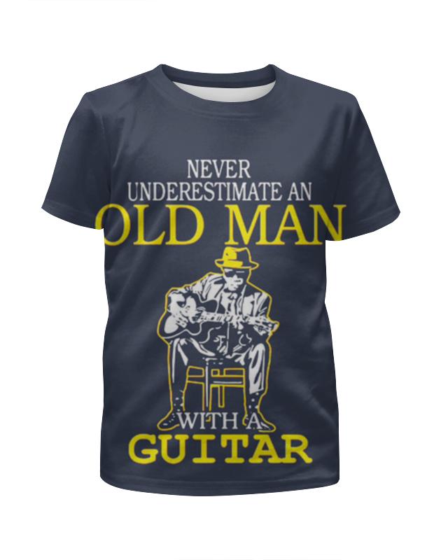 Футболка с полной запечаткой для девочек Printio Old man guitar