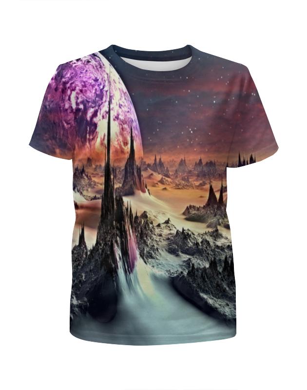 Футболка с полной запечаткой для девочек Printio Планеты футболка print bar планеты