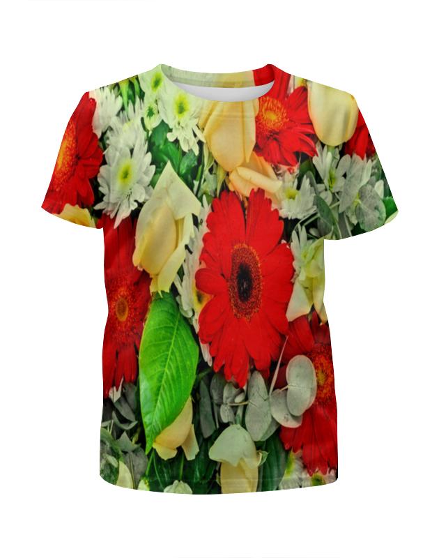 Футболка с полной запечаткой для девочек Printio Букет цветов футболка с полной запечаткой для девочек printio пртигр arsb