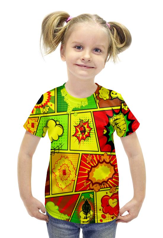 Футболка с полной запечаткой для девочек Printio Взрыв футболка с полной запечаткой для девочек printio пртигр arsb
