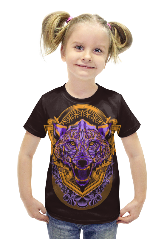Футболка с полной запечаткой для девочек Printio Волчище футболка с полной запечаткой для девочек printio пртигр arsb