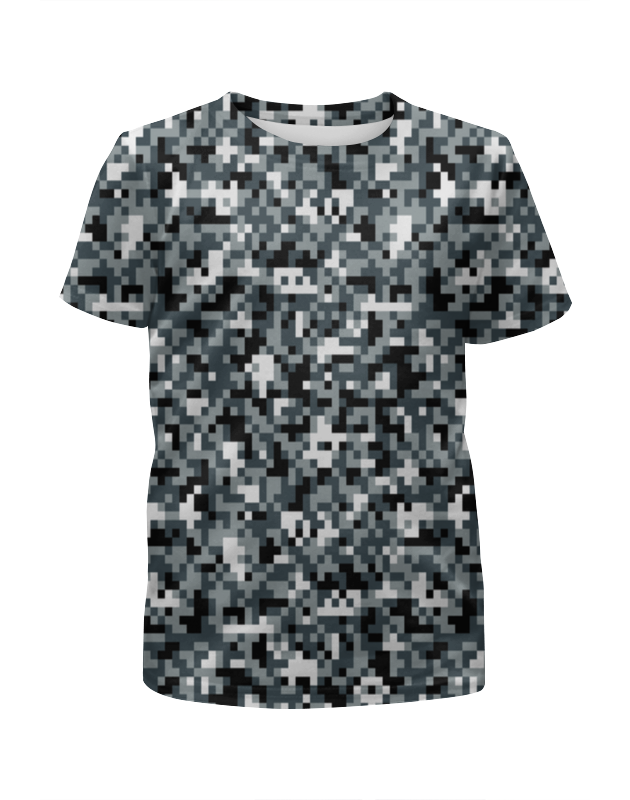 Футболка с полной запечаткой для девочек Printio Pixel camouflage футболка с полной запечаткой для девочек printio camouflage style