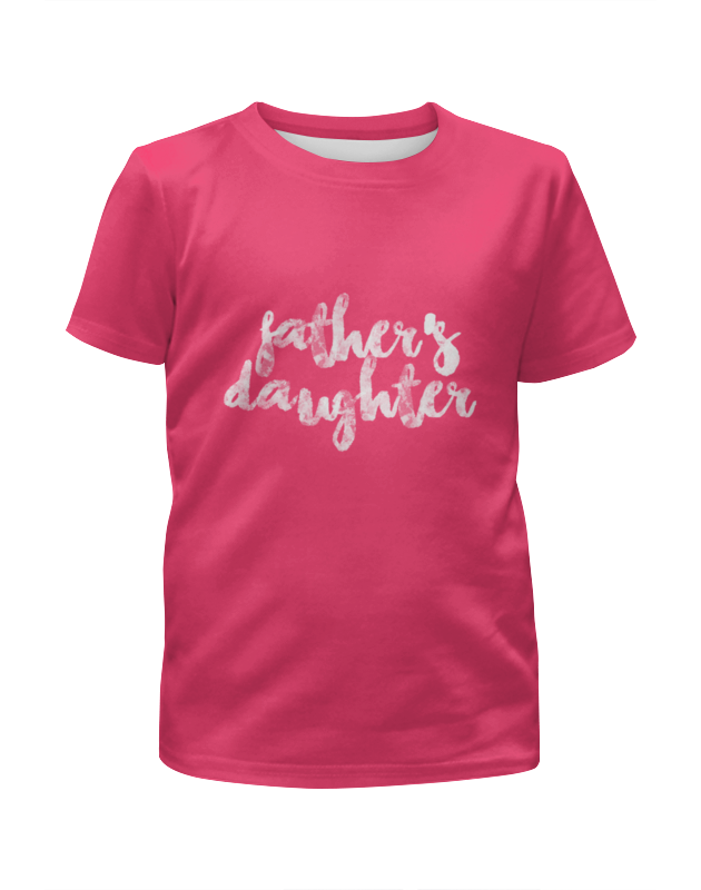 Футболка с полной запечаткой для девочек Printio Папина дочка футболка с полной запечаткой для девочек printio дочка спит