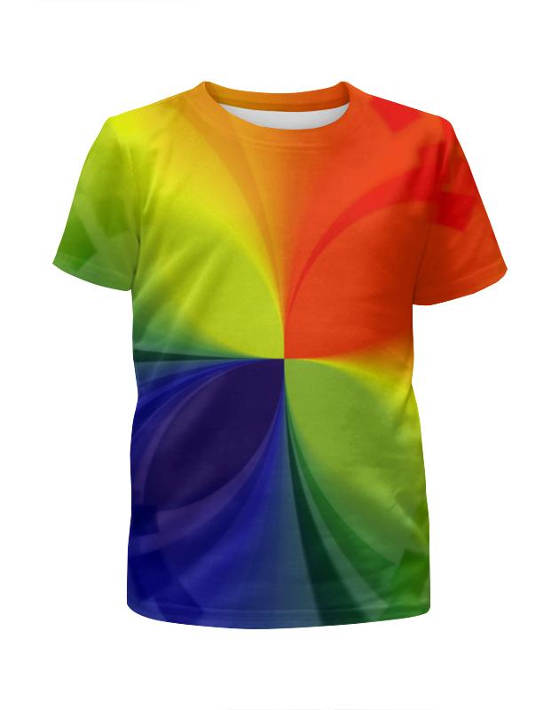 Футболка с полной запечаткой для девочек Printio Цветной калейдоскоп футболка с полной запечаткой для девочек printio весеннее настроение