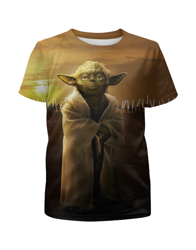 Футболка с полной запечаткой для девочек Printio Звездные войны - йода футболка стрэйч printio йода звездные войны