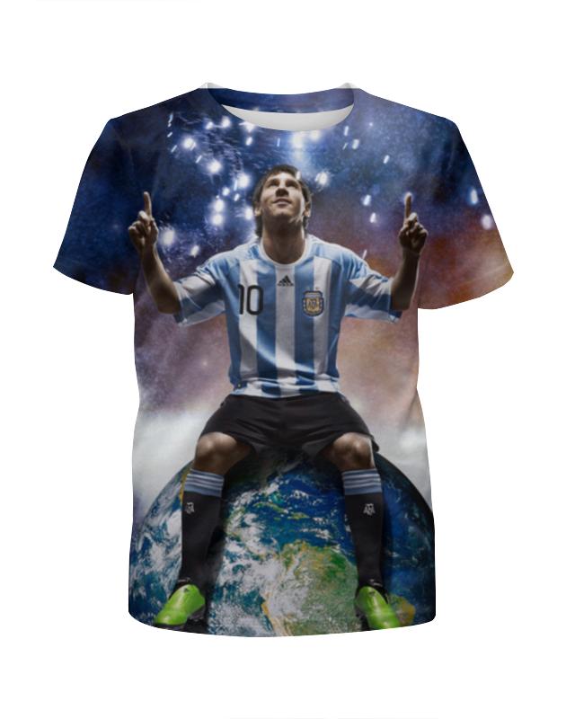 Футболка с полной запечаткой для девочек Printio Messi футболка классическая printio messi