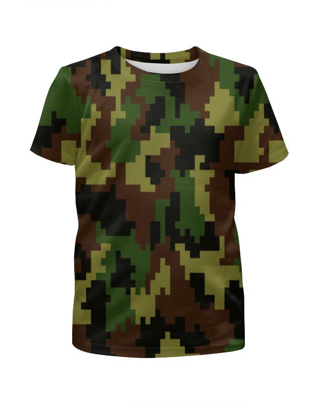 Футболка с полной запечаткой для девочек Printio Камуфляж цветной футболка с полной запечаткой для девочек printio камуфляж