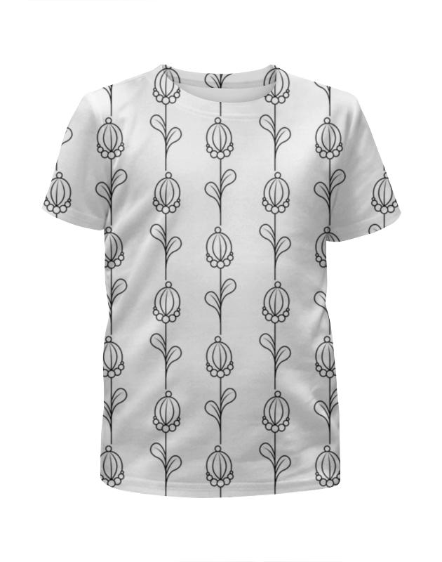 Футболка с полной запечаткой для девочек Printio Нежные абстрактные цветы футболка с полной запечаткой мужская printio нежные абстрактные цветы