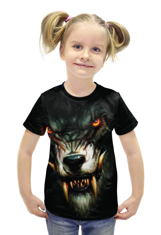 Футболка с полной запечаткой для девочек Printio Оборотень футболка с полной запечаткой для девочек printio пртигр arsb