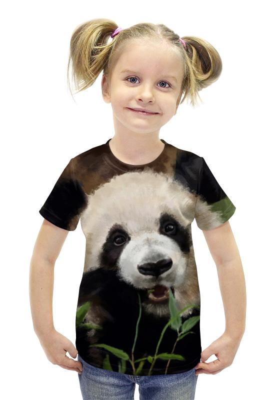 Футболка с полной запечаткой для девочек Printio Панда!!! футболка с полной запечаткой для девочек printio панда