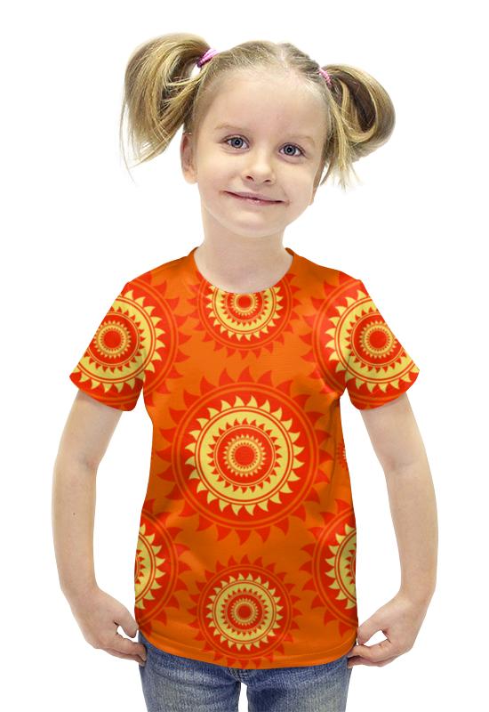 Футболка с полной запечаткой для девочек Printio Солнце футболка с полной запечаткой для девочек printio пртигр arsb