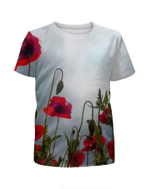 Футболка с полной запечаткой для девочек Printio Поле маков футболка с полной запечаткой женская printio поле маков
