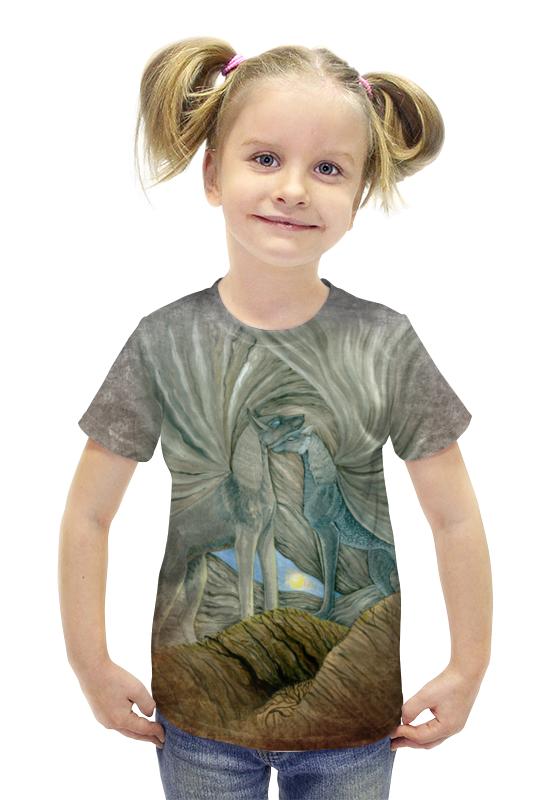 Футболка с полной запечаткой для девочек Printio Волки хранители солнца футболка с полной запечаткой printio война миров z
