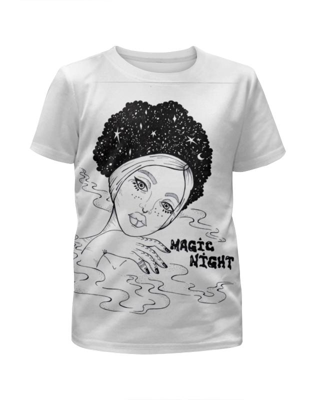 Футболка с полной запечаткой для девочек Printio Magic night / волшебной ночи дополнительные детали для волшебной трассы top shop magic tracks