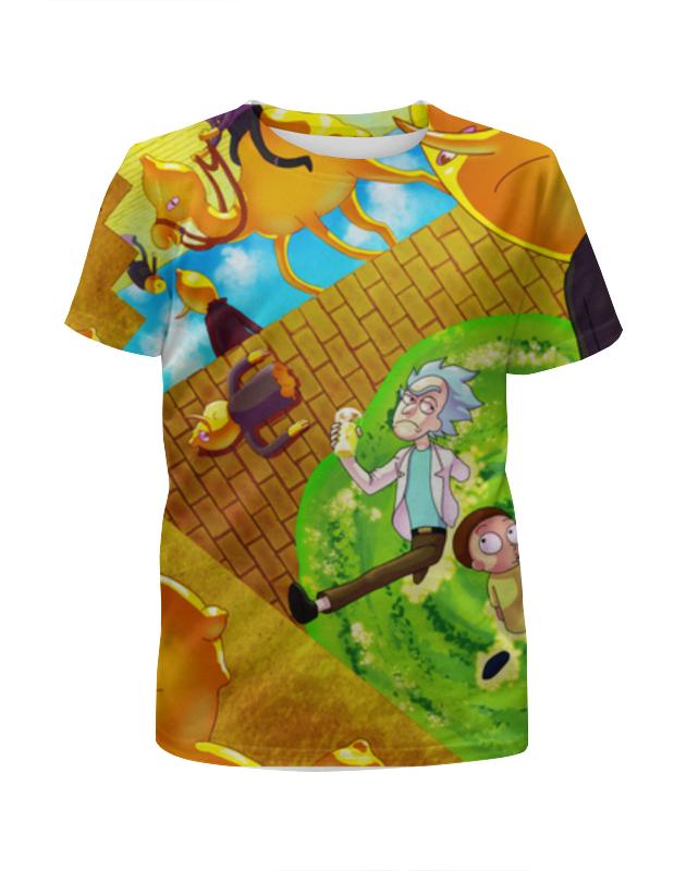 Футболка с полной запечаткой для девочек Printio Рик и морти футболка с полной запечаткой для девочек printio i want you for nova corps