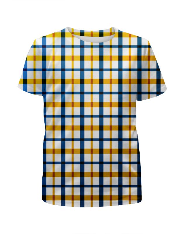 Футболка с полной запечаткой для девочек Printio Клетка футболка с полной запечаткой для девочек printio цветная клетка