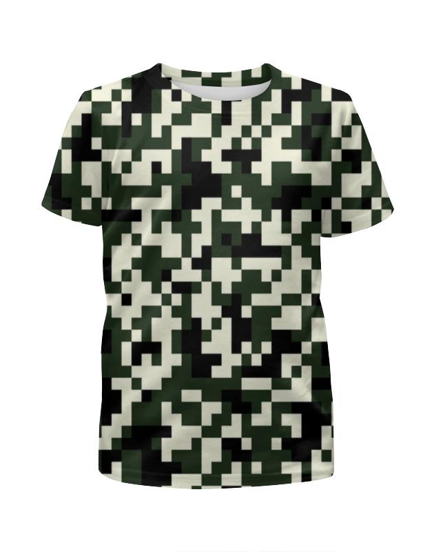 Футболка с полной запечаткой для девочек Printio Зеленые пиксели футболка с полной запечаткой для девочек printio пртигр arsb