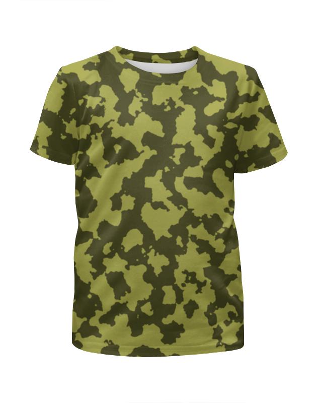 Printio Зелёный камуфляж футболка с полной запечаткой для девочек printio голубой камуфляж