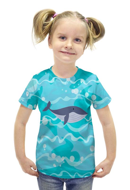 Футболка с полной запечаткой для девочек Printio Кашалот футболка с полной запечаткой для девочек printio spawn