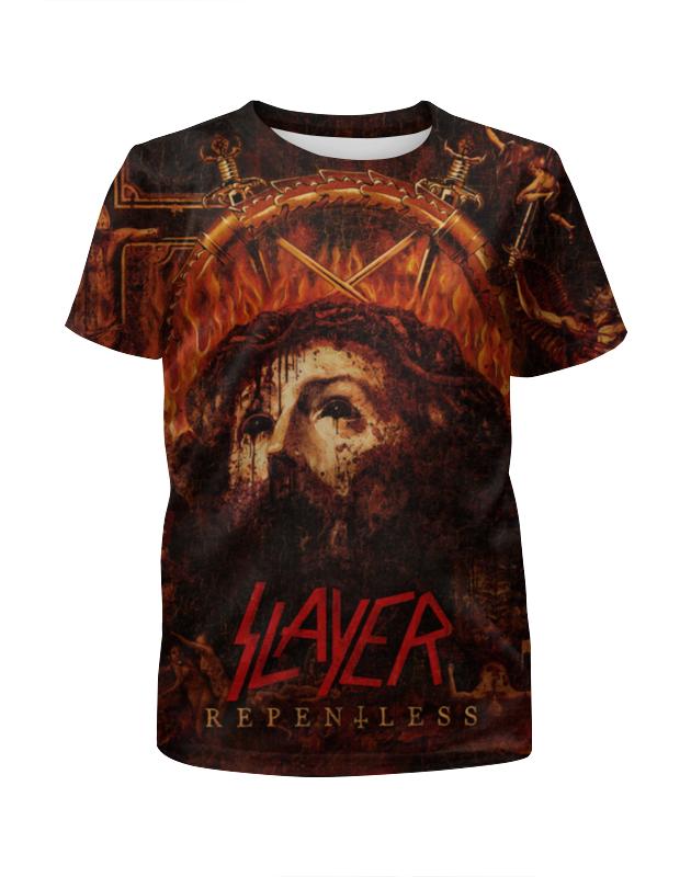 Футболка с полной запечаткой для девочек Printio Slayer repentless 2015 (1) футболка с полной запечаткой мужская printio slayer repentless 2015 3