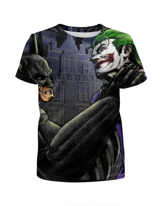 Футболка с полной запечаткой для девочек Printio Бэтмен и джокер футболка print bar бэтмен и джокер