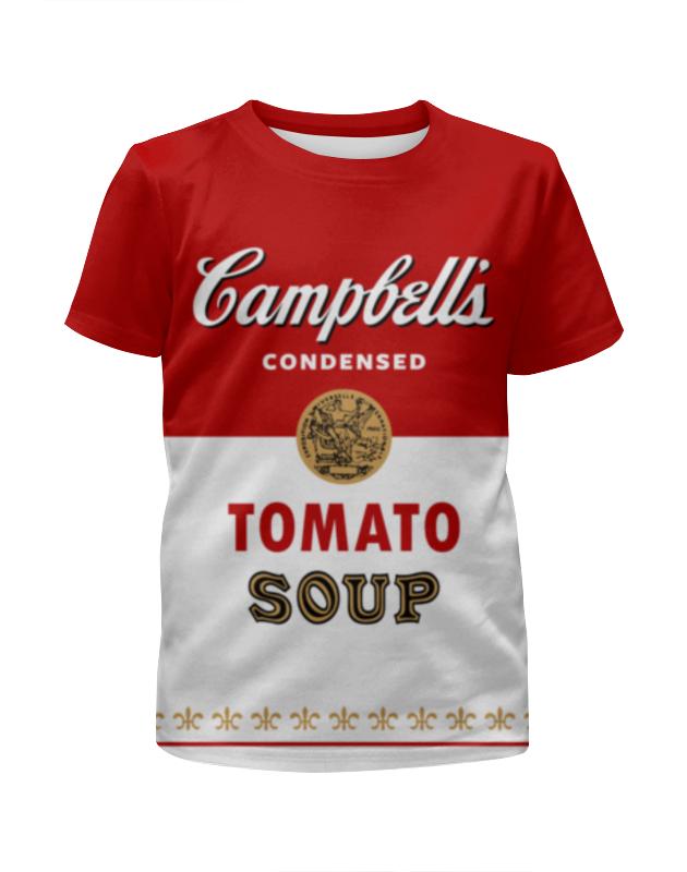Футболка с полной запечаткой для девочек Printio Суп кэмпбелл суп том кха