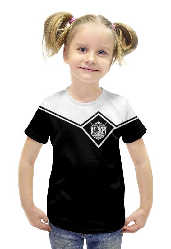 Футболка с полной запечаткой для девочек Printio Хоккей!!! билеты на хоккей авангард онлайн