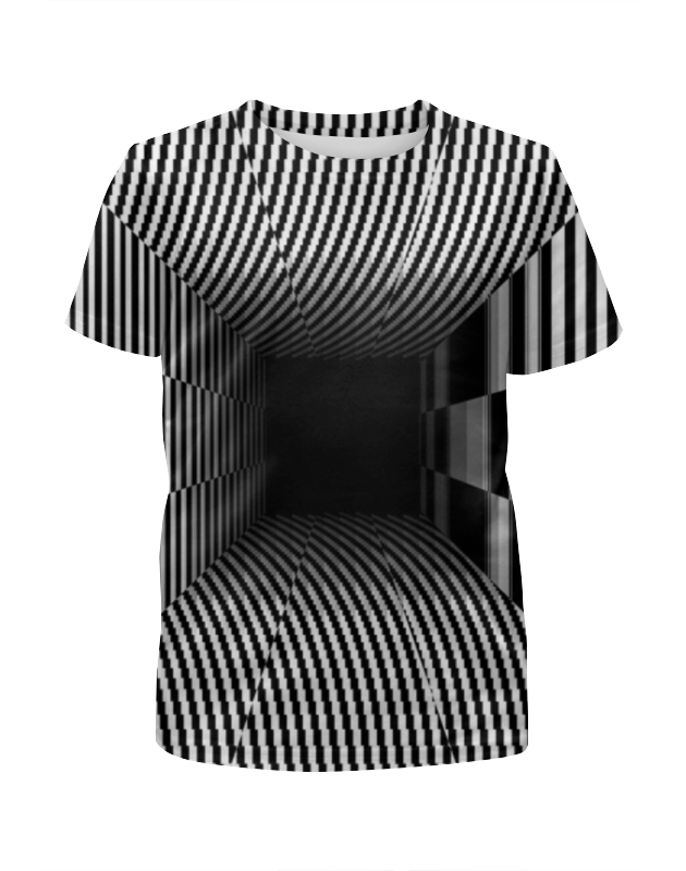 Футболка с полной запечаткой для девочек Printio Иллюзия футболка с полной запечаткой для девочек printio иллюзия