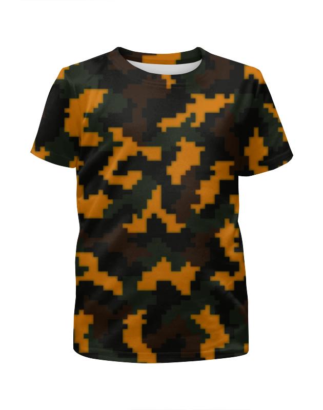 Printio Камуфляж текстура футболка с полной запечаткой для девочек printio модный камуфляж