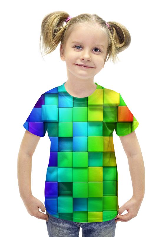 Футболка с полной запечаткой для девочек Printio Кубики футболка с полной запечаткой для девочек printio пртигр arsb