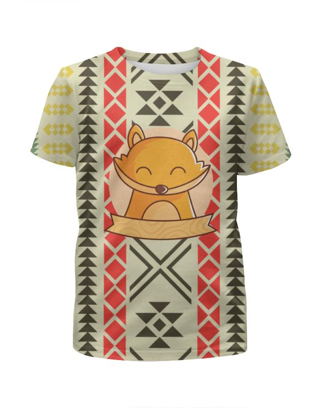 Футболка с полной запечаткой для девочек Printio Спящий лисёнок футболка с полной запечаткой для девочек printio пртигр arsb
