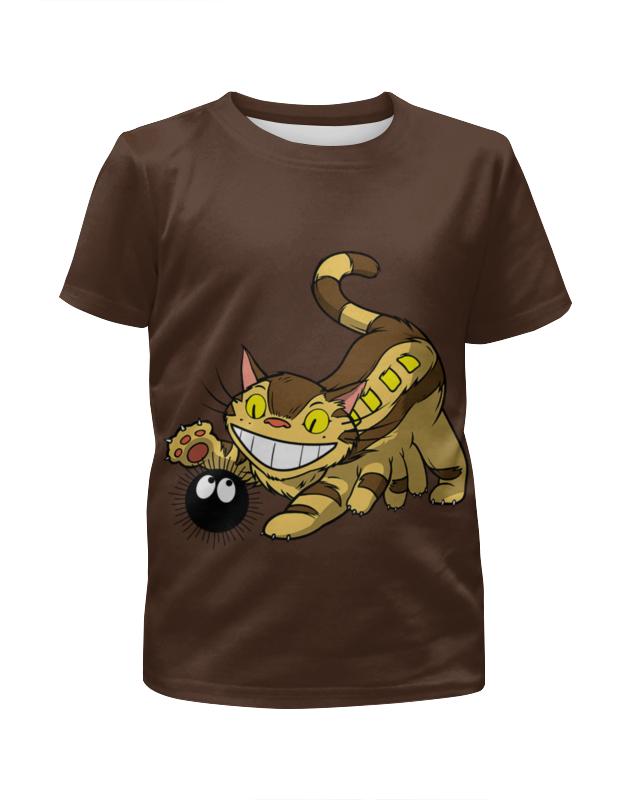 Футболка с полной запечаткой для девочек Printio Чеширский кот футболка с полной запечаткой для девочек printio кот и пес