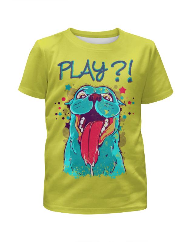 Футболка с полной запечаткой для девочек Printio Play?! футболка с полной запечаткой для девочек printio волгоградская область