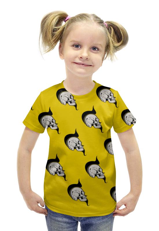 Футболка с полной запечаткой для девочек Printio Skulls футболка с полной запечаткой для девочек printio пртигр arsb
