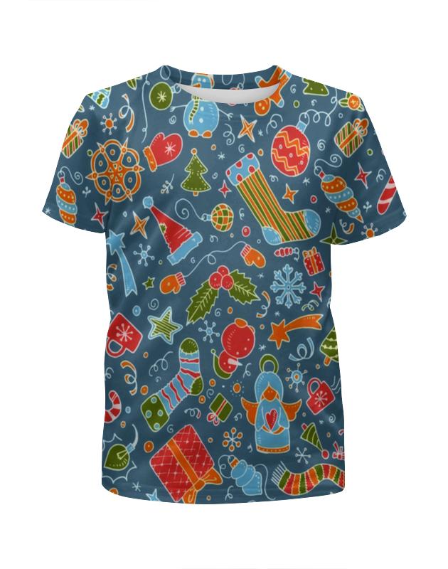 Футболка с полной запечаткой для девочек Printio Новогодние игрушки футболка с полной запечаткой женская printio новогодние игрушки