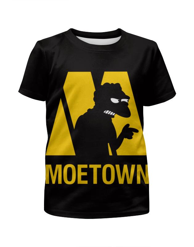 Футболка с полной запечаткой для девочек Printio Мо (симпсоны) футболка moe футболка