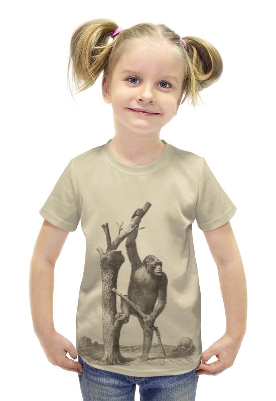Футболка с полной запечаткой для девочек Printio Обезьяна футболка с полной запечаткой для девочек printio пртигр arsb