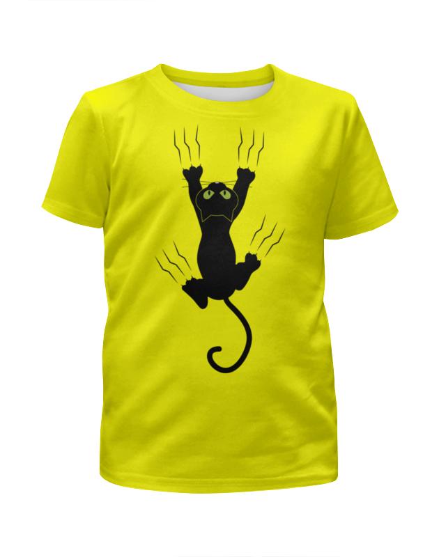 Футболка с полной запечаткой для девочек Printio Прикольный кот футболка с полной запечаткой для девочек printio spawn